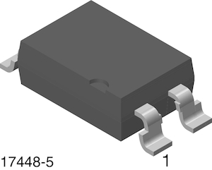 TRANSISTOR 5300VRMS VISHAY SEMICONDUCTOR SFH617A-1 OPTOCOUPLER 5 pieces